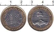 Изображение Монеты Аргентина 2 песо 2016 Биметалл UNC
