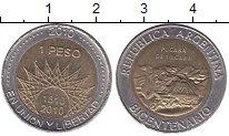 Изображение Монеты Аргентина 1 песо 2010 Биметалл UNC