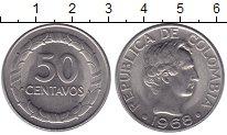 Изображение Монеты Колумбия 50 сентаво 1968 Медно-никель UNC Боливар - Освободите