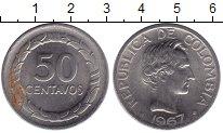 Изображение Монеты Колумбия 50 сентаво 1967 Медно-никель XF Боливар - Освободите