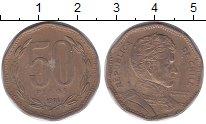 Изображение Монеты Чили 50 песо 1994 Латунь XF