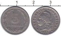 Изображение Монеты Аргентина 5 сентаво 1938 Медно-никель XF