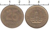 Изображение Монеты Аргентина 25 сентаво 2009 Латунь XF Здание  Конгресса.