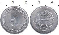 Изображение Монеты Алжир 5 сантим 1977 Алюминий UNC-