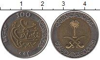 Изображение Монеты Саудовская Аравия 100 халал 2000 Биметалл XF