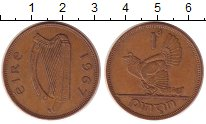 Изображение Монеты Ирландия 1 пенни 1967 Бронза XF