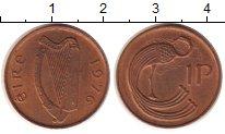 Изображение Монеты Ирландия 1 пенни 1976 Бронза UNC-