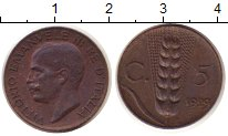 Изображение Монеты Италия 5 сентим 1929 Бронза XF
