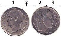 Изображение Монеты Италия 20 сентесим 1940 Медно-никель XF Витторио Имануил III