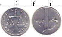 Изображение Монеты Италия 1 лира 1980 Алюминий UNC-