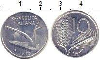 Изображение Монеты Италия 10 лир 1970 Алюминий UNC-