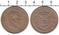 Изображение Монеты Дания 5 крон 1966 Медно-никель XF Фредерик IX.