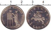 Изображение Монеты Литва 1 лит 2009 Медно-никель XF