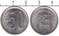 Изображение Монеты Венесуэла 50 сентимо 2007 Медно-никель XF Герб