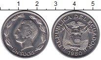Изображение Монеты Эквадор 1 сукре 1980 Медно-никель XF