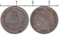 Изображение Монеты Аргентина 5 сентаво 1920 Медно-никель XF