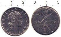 Изображение Монеты Италия 50 лир 1970 Сталь UNC-