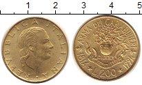 Изображение Монеты Италия 200 лир 1994 Латунь UNC- 180 лет Армии карабе