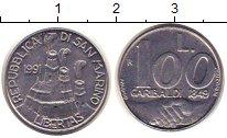 Изображение Монеты Сан-Марино 100 лир 1991 Сталь UNC-