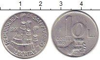 Изображение Монеты Сан-Марино 10 лир 1991 Алюминий UNC-