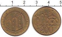 Изображение Монеты Сан-Марино 200 лир 1992 Латунь UNC-