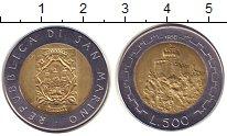 Изображение Монеты Сан-Марино 500 лир 1988 Биметалл UNC-