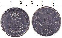 Изображение Монеты Сан-Марино 100 лир 1979 Сталь UNC-
