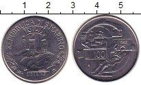 Изображение Монеты Сан-Марино 100 лир 1982 Сталь UNC-