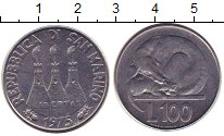 Изображение Монеты Сан-Марино 100 лир 1975 Сталь UNC-