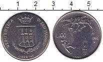 Изображение Монеты Сан-Марино 100 лир 1983 Сталь UNC-