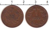 Изображение Монеты Австрия 1 крейцер 1879 Медь XF