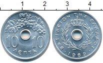 Изображение Мелочь Греция 10 лепт 1969 Алюминий UNC-