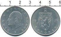 Изображение Монеты Норвегия 5 крон 1976 Медно-никель XF Олаф V