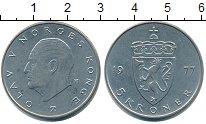 Изображение Монеты Норвегия 5 крон 1977 Медно-никель XF