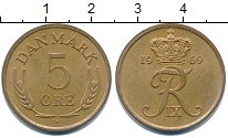 Изображение Монеты Дания 5 эре 1969 Латунь XF Фредерик IX.