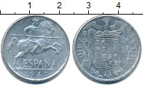 Изображение Монеты Испания 10 сентимо 1941 Алюминий XF