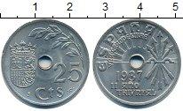 Изображение Монеты Испания 25 сентим 1937 Алюминий XF