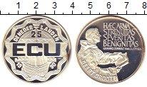 Монета Нидерланды 25 экю 1990 Герт Гроте Серебро Proof-