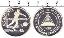 Изображение Монеты Никарагуа 2000 кордоба 1988 Серебро Proof чемпионат мира по фу