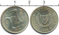 Изображение Монеты Кипр 2 цента 1996 Медь UNC-