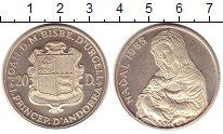 Изображение Монеты Андорра 20 динерс 1985 Серебро Proof-