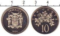 Изображение Монеты Ямайка 10 центов 1974 Медно-никель XF