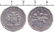 Изображение Монеты Ямайка 1 цент 1980 Алюминий XF