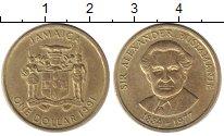 Изображение Монеты Ямайка 1 доллар 1991 Латунь XF