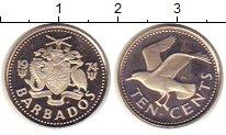 Изображение Монеты Барбадос 10 центов 1974 Медно-никель UNC