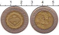 Изображение Монеты Филиппины 10 песо 2005 Биметалл XF