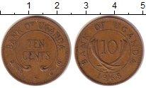 Изображение Монеты Уганда 10 центов 1968 Медь XF