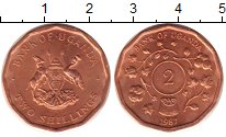 Изображение Монеты Уганда 2 шиллинга 1987 Медь UNC-