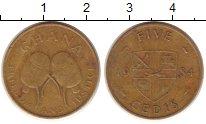 Изображение Монеты Гана 5 седи 1984 Медь