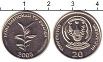 Изображение Монеты Руанда 20 франков 2003 Медно-никель XF